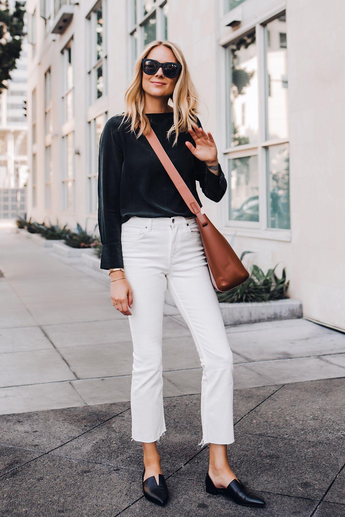 How to Style White Jeans 3 Ways | Meganlarussa #