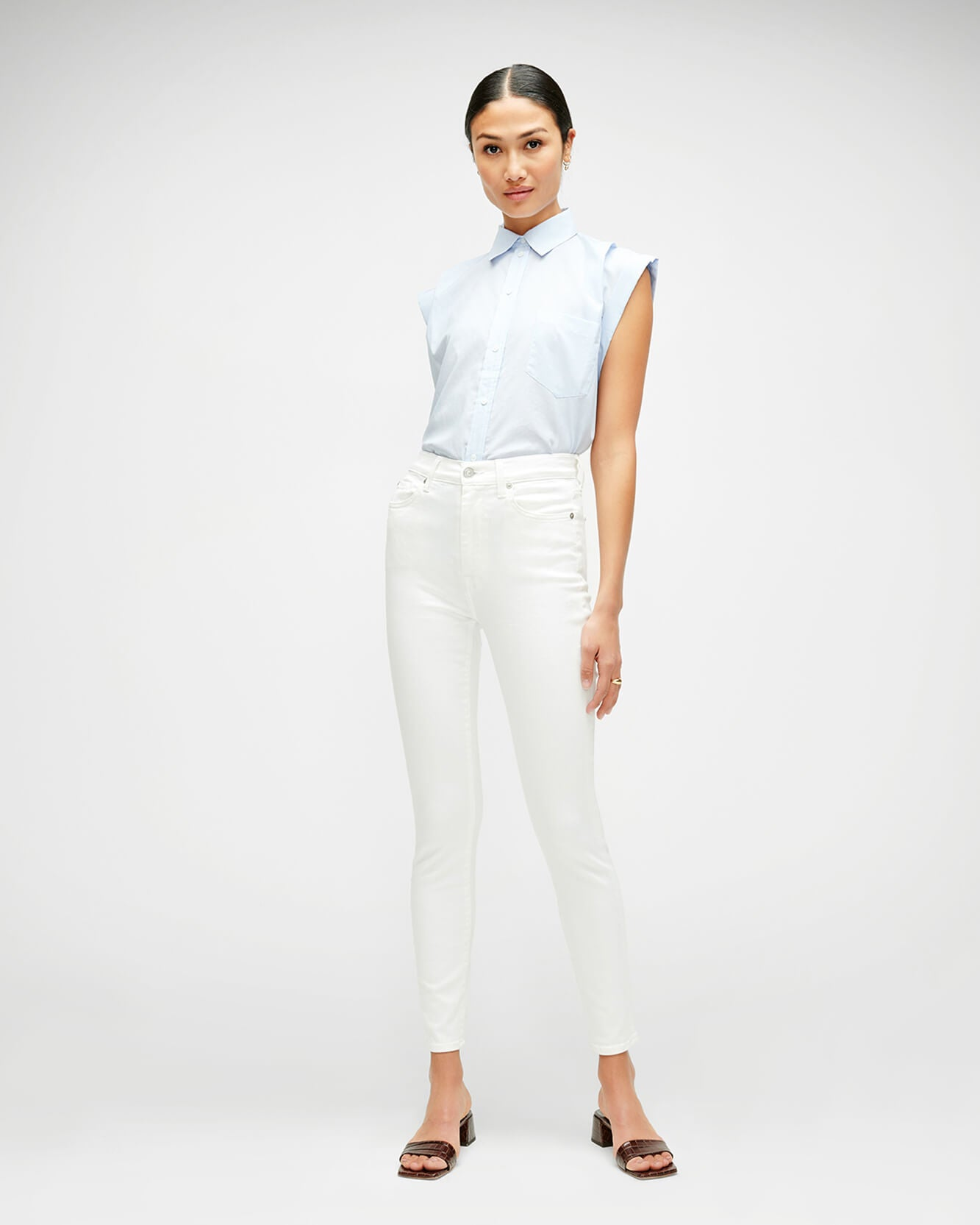How to style white jeans this summer